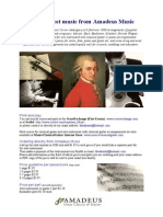 Amadeus Music / guitar sheet music price list