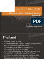 Elements of the Traditional Music of Thailand
