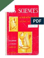 Leçons de choses Dirand-Carron CM1-CM2 Les Sciences