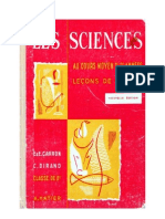 Leçons de choses Dirand-Carron CM1-CM2 Les Sciences