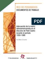 Corrarello, Ana María - Adecuación de la matriz latinoamericanista