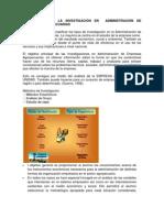 METODOLOGÍA DE LA INVESTIGACIÓN EN  ADMINISTRACIÓN DE EMPRESAS AGROPECUARIAS