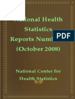 National Health Statistics Reports Number 9 October 2008