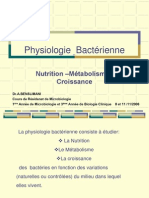 7 Physiologie Bact Rienne Cours de r Sidanat
