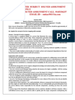 MK0015 -Services Marketing and Customer Relationship Management
