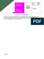 Certificate HE 6310 2 SCHERING