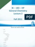Bi - 183 - HP Lecture 2