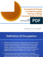 Occupational Therapy in Productive Aging - Top 10 Things