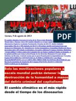 Noticias Uruguayas Viernes 9 de Agosto Del 2013