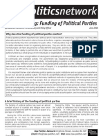 Policy Briefing on the Funding of Political Parties