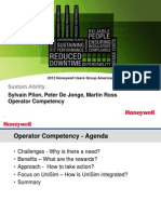 Honeywell Operator Competency