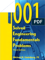 1001 Solved Engineering Fundamentals Exam Problems