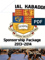 IC Kabaddi 2013 Sponsorship Dossier Final