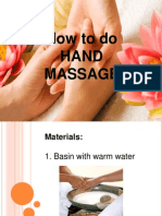 Demo of Hand Massage