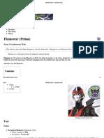 Flamewar (Prime) - Transformers Wiki