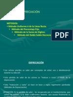 DEPRECIACIÓN _MÉTODOS_ 2013-1