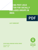 Making Post-2015 Matter for Socially Excluded Groups in India