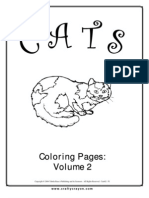 Cats Coloring Pages Vol 2