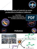 An investigation of controls on ozone production in Southern California