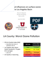 Meteorological influences on surface ozone in the Los Angeles Basin