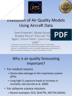 Evaluation of air quality models using aircraft data