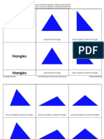 MF-39 Triangles 3-Part Cards