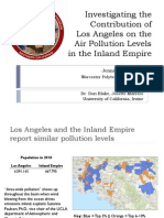 Investigating the Contribution of the Los Angeles Metropolitan Area on the Air Pollution Levels in the Inland Empire