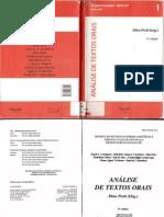 PRETI, Dino (org.) -  Análise de Textos Orais