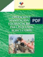 OPERACION Y MANTENCIÒN DE EQUIPOS DE RIEGO