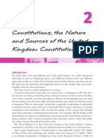 Nature & Sources of UK Constitution