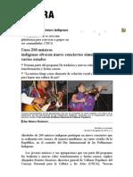 La Jornada_ Unos 200 músicos indígenas