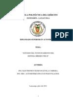 Estudio Del Funcionamiento Del Sistema Hibrido Ths-2