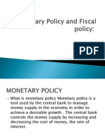 Monetary and Fiscal Policy(Final)