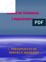 Cierre Tesoreria FSE
