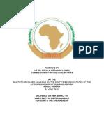 Commissoner Remark at the Abuja Africa 2063 Agenda Meeting