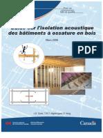 Guide Sur l Isolation Acoustique Des Batiments a Ossature en Bois