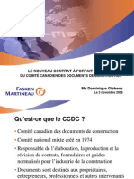 Le Nouveau Contrat Aforfait Ccdc 2 2008 Du Comite Canadien Des Documents de Construction