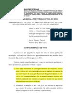 Complementação Voto PEC 565-2006 Orçamento Impositivo