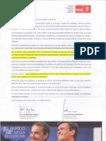 Carta Zapatero