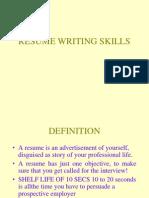 Resume Writing Skills