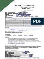 Dotation Nord Sud Automne 2007- Les Amis de Viisaora
