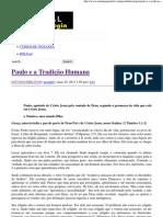 Paulo e a Tradição Humana _ Portal da Teologia.pdf