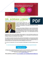 Caribbean Work Life Balance Conference & Exhibition 2014 BIO DR. ADRIAN LORDE