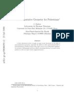 Physics - Non Commutative Geometry for Pedestrians - [Jnl Article] Madore (1999) WW