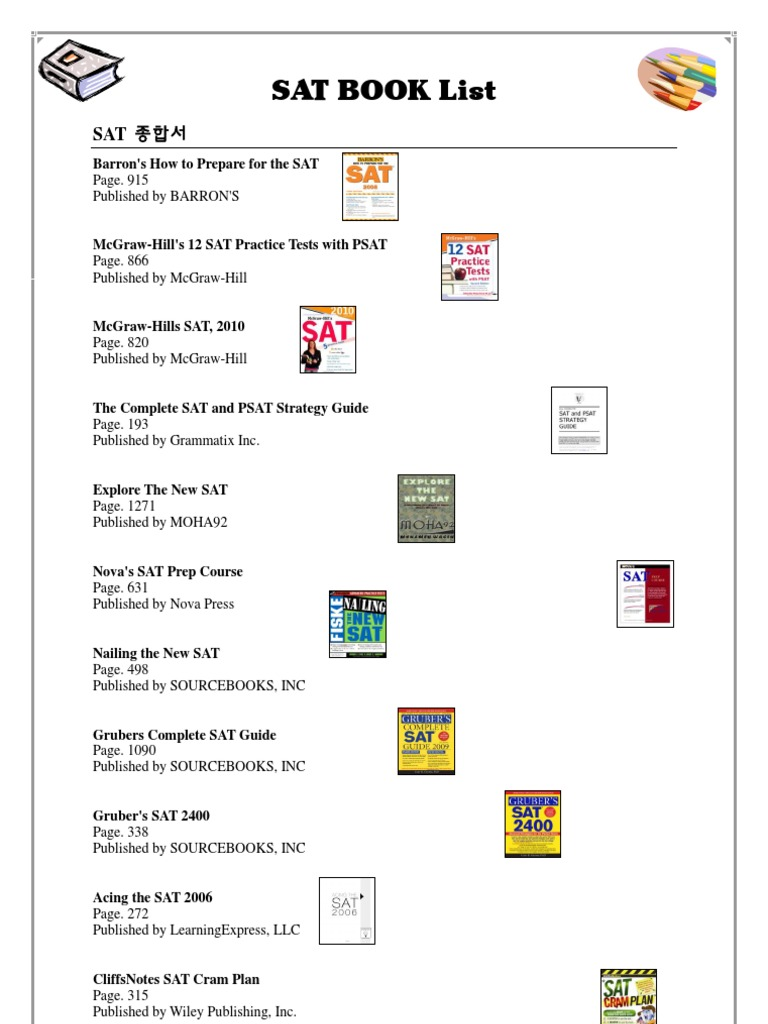 Sat book list 1533054866v1 fandeluxe Image collections