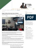 Egypt's Military Shuts Downs News