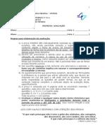 PRIMEIRA  AVALIAÇÃO CONSTITUCIONAL III  PED RA BRANCA 20122 noturno