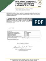 Edital Nº 0422013 retificação ncl