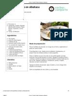 Cocina - Receta_ Filetes de Tilapia en Albahaca