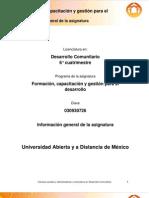 FGD Informacion General de La Asignatura